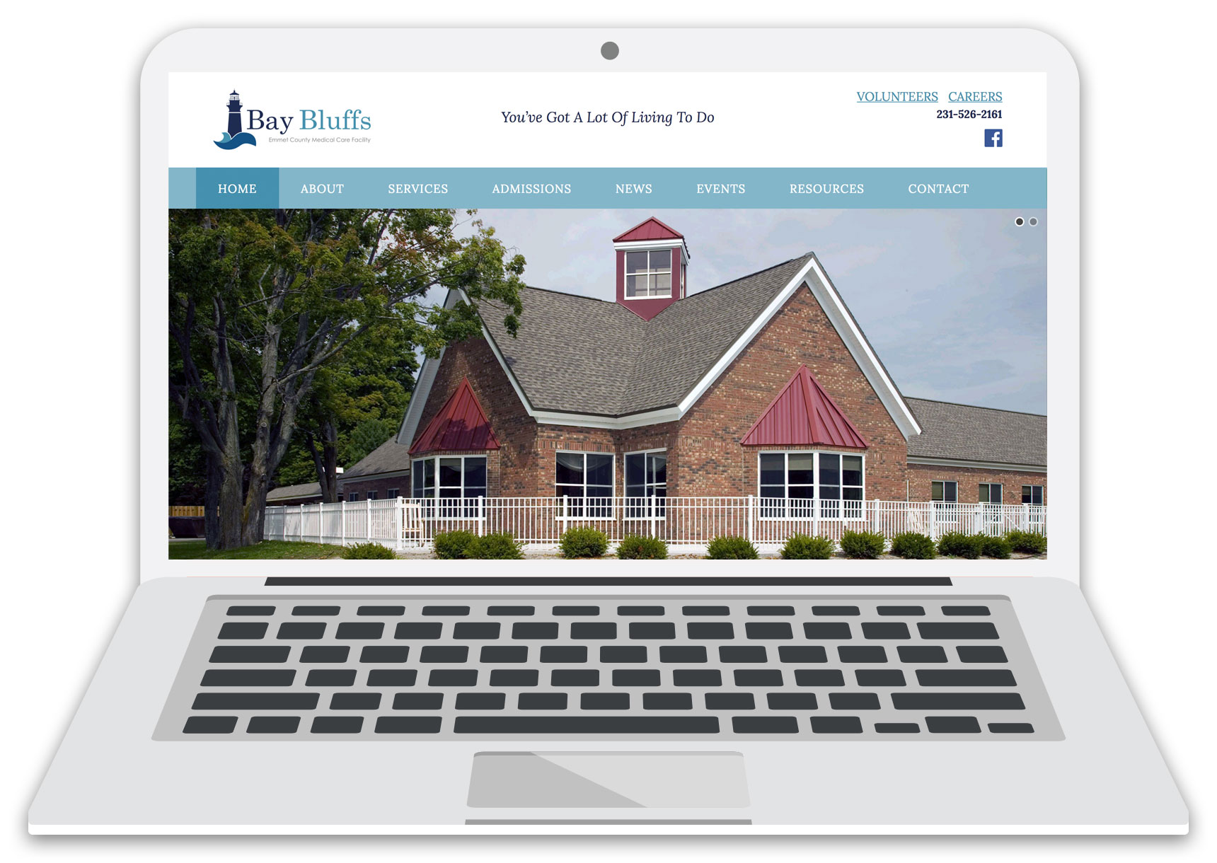 bay bluffs website laptop