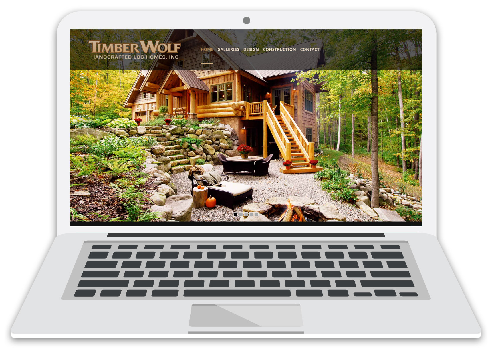 timber wolf handcrafted website laptop