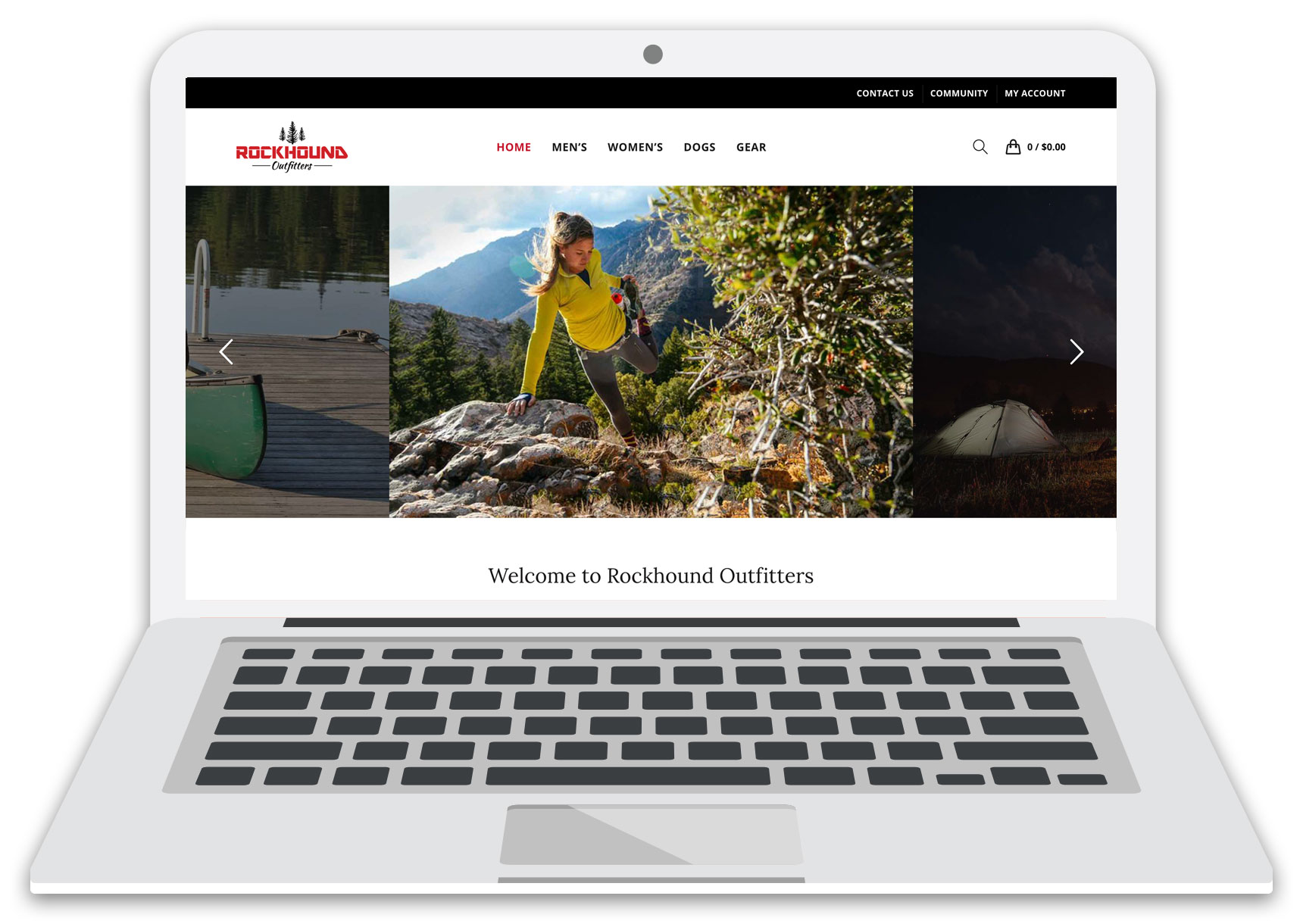 rockhound outfitters website laptop