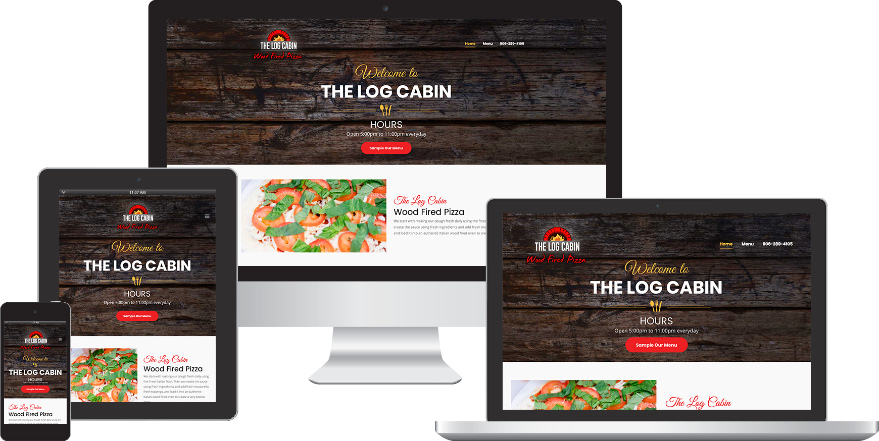 the log cabin website