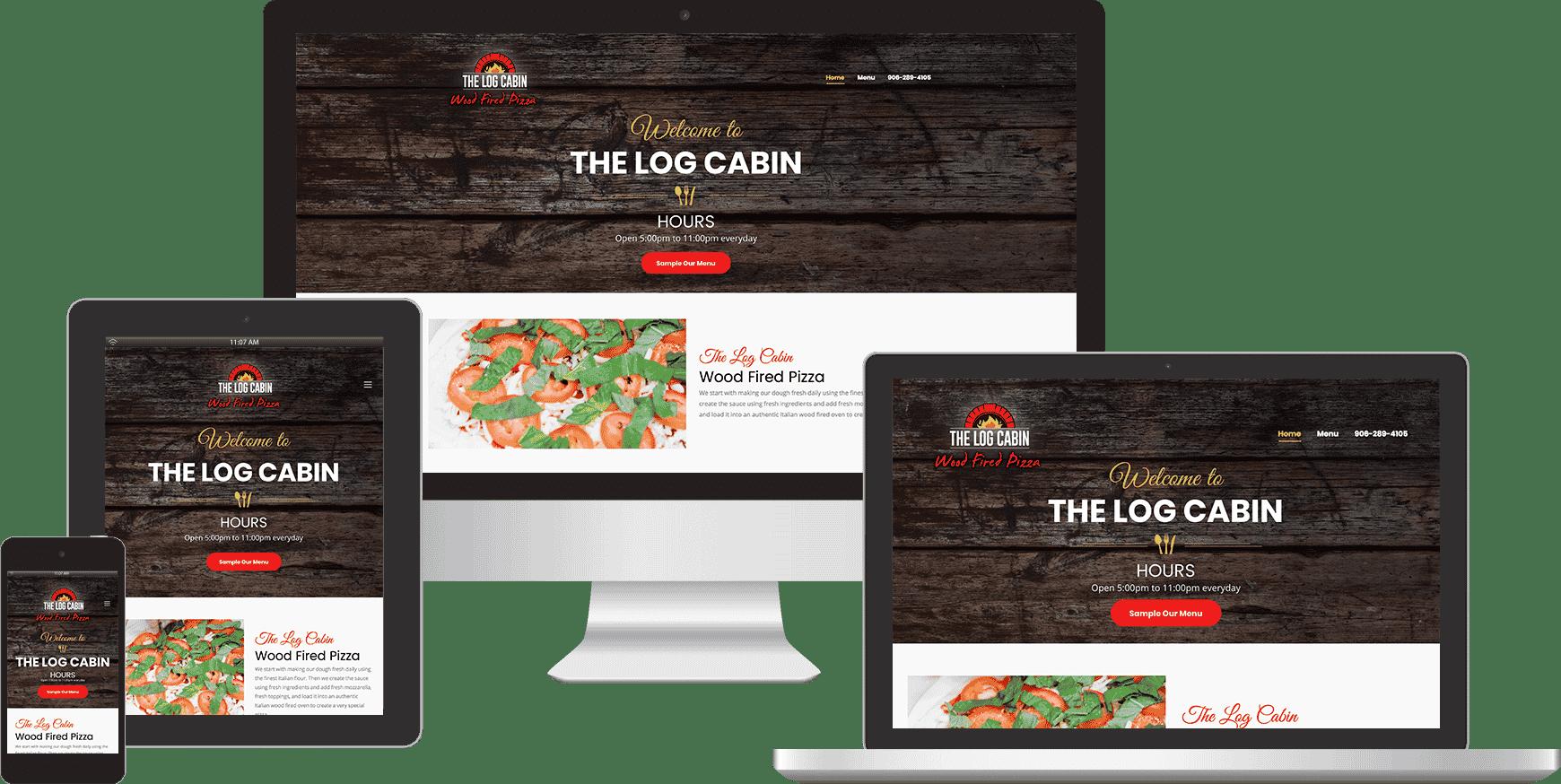 the log cabin website