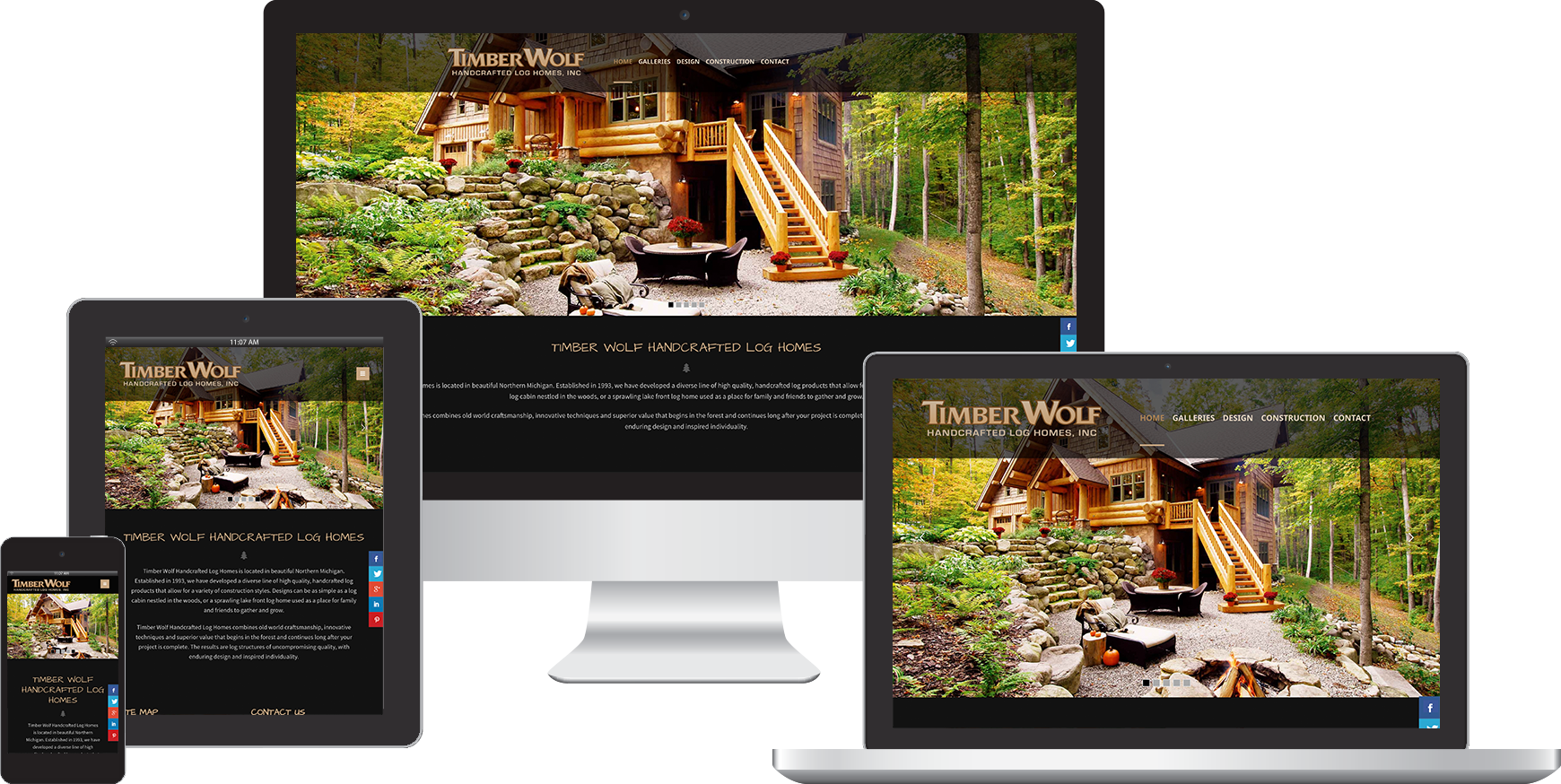 timber wolf handcrafted website